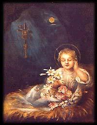"""""""Sen Dzieciątka Jezus"""". Obraz namalowany przez św. Teresę od Dzieciątka Jezus w 1894 roku."""