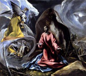 Modlitwa w Ogrodzie Oliwnym (mal. El Greco)